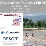 Colloque international : les défis liés à l'eau